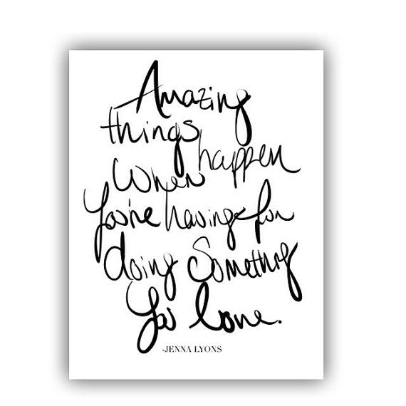 Amazing Things Happen Print by PearlsandPastries on Etsy, $4.00