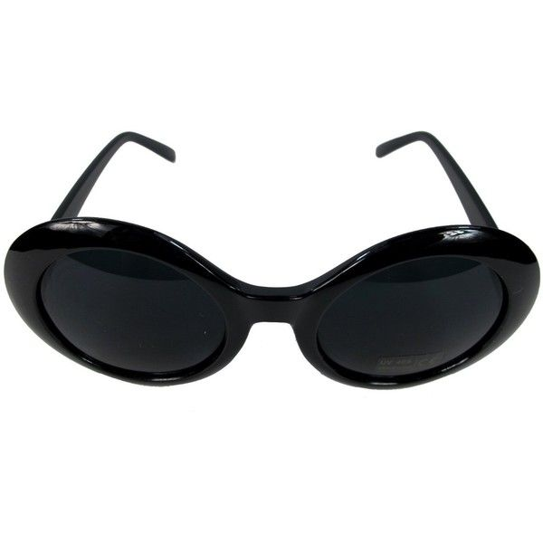 ec387c33e7 Kurt Cobain Alien Shades Sunglasses Nirvana Thick Frame Glasses ( 19) ❤  liked on Polyvore featuring accessories