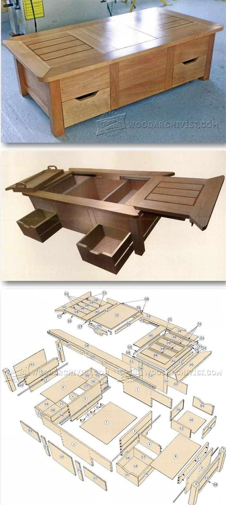 Woodworking Projects Plans: DIY : 50+ Best Coffee Tables You'll Love