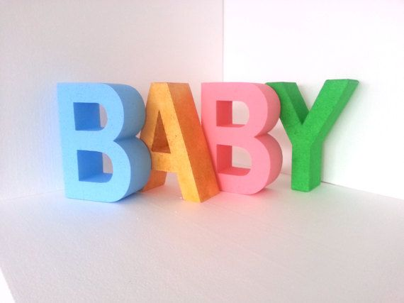 Baby Letters Big Colored Letter D Baby Shower Letters Baby Party