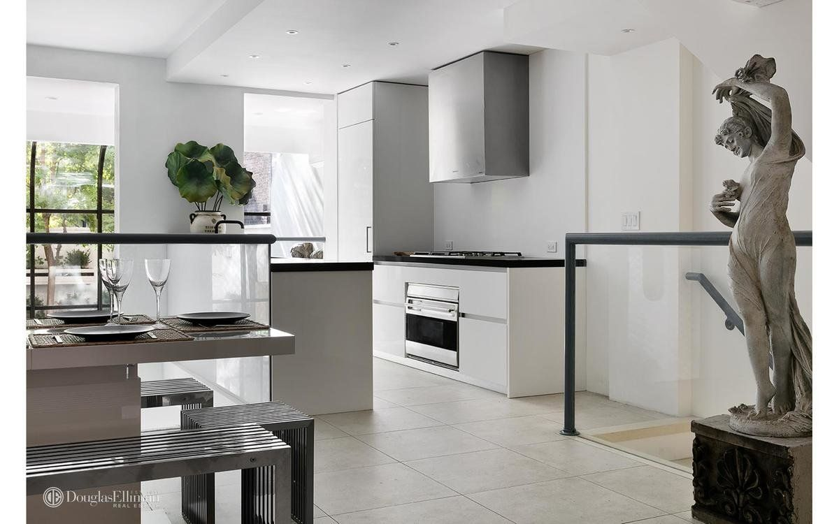 This white kitchen takes a simple modern approach kitchens