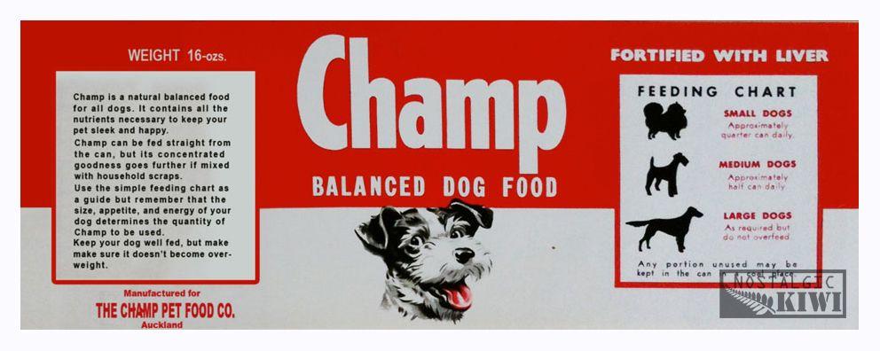 1950s champ pet food dog food recipes company meals