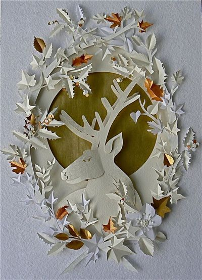 Paper Cut Work By Helen Musselwhite Make This With A Drawing Of Us