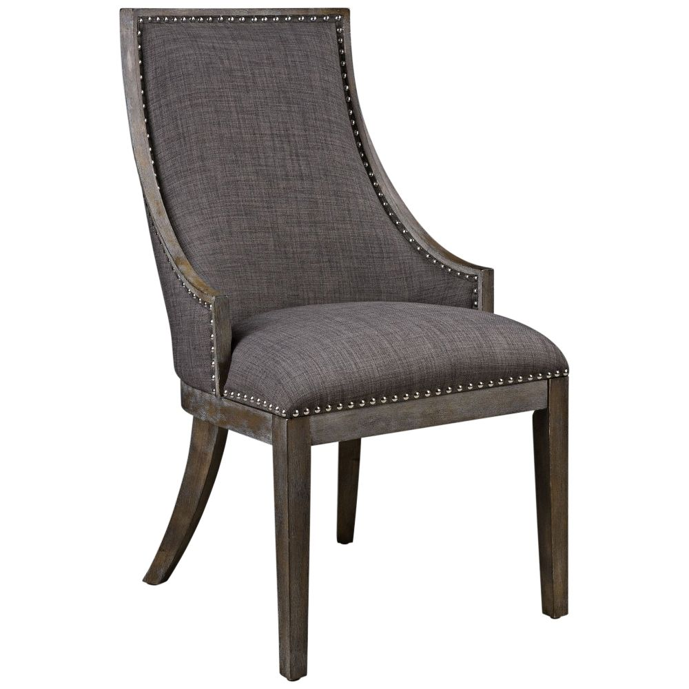 Best Uttermost Aidrian Charcoal Gray Fabric Accent Chair 400 x 300