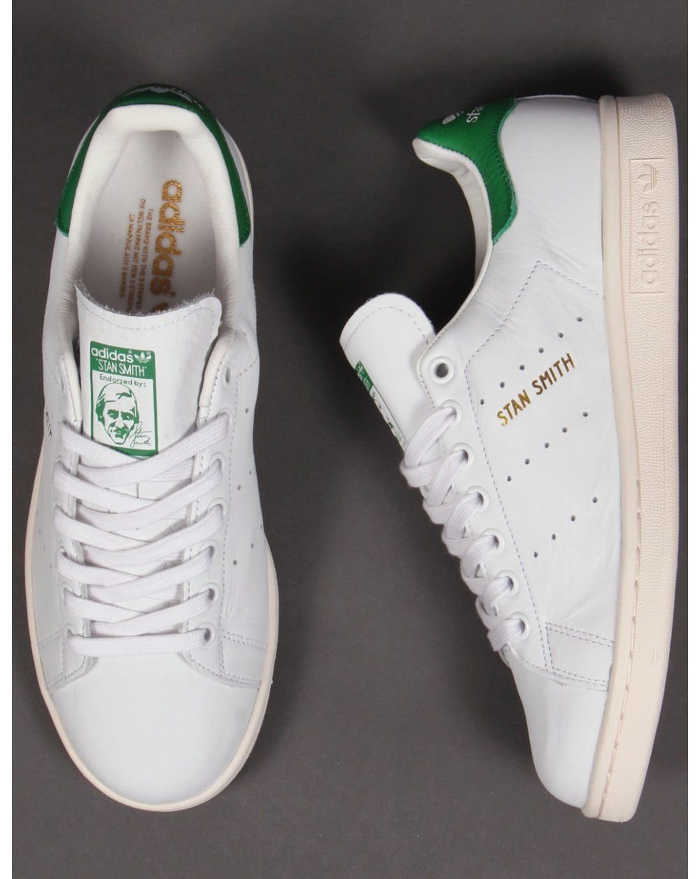 084a1178e09 Adidas Originals Stan Smith Trainers in White   Green (Gold Print) (UK  Sizes) in Clothes