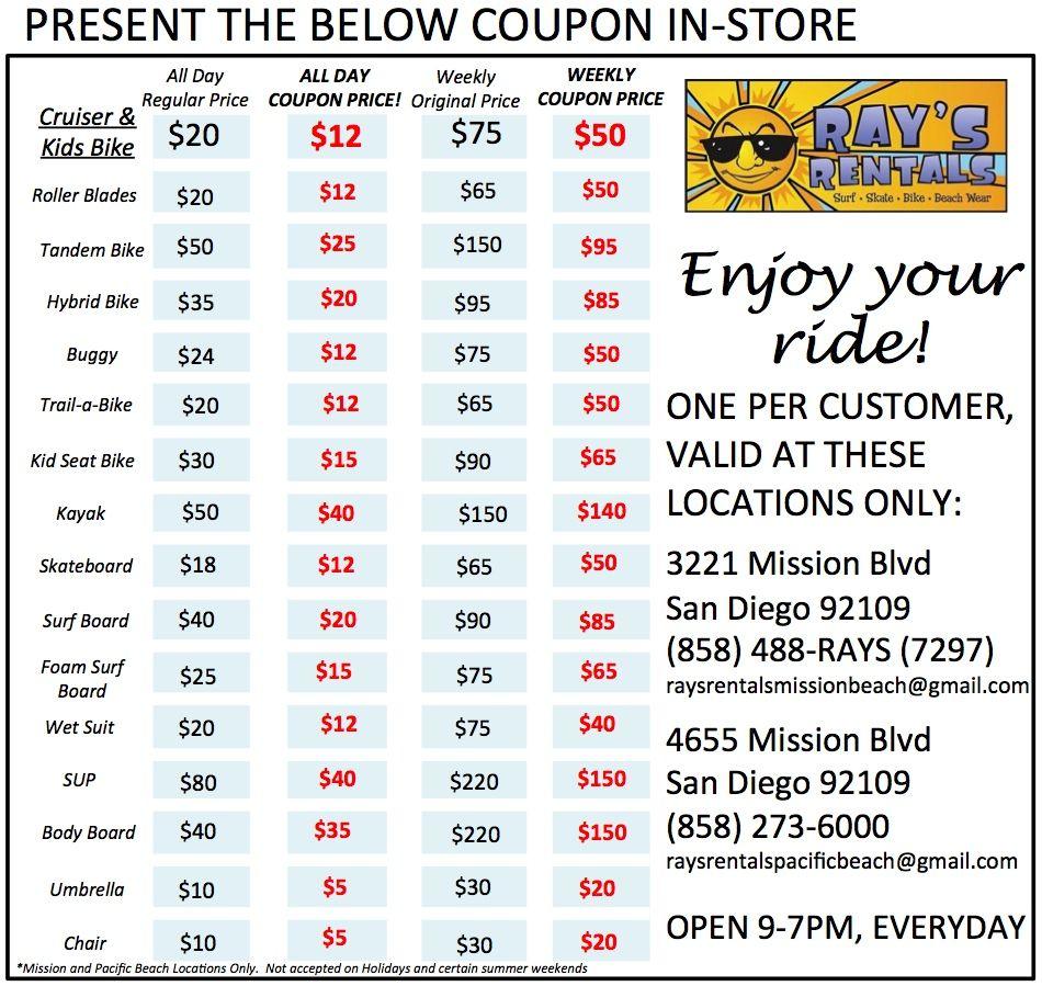 Discounts for mission beach bike rentals beach bike
