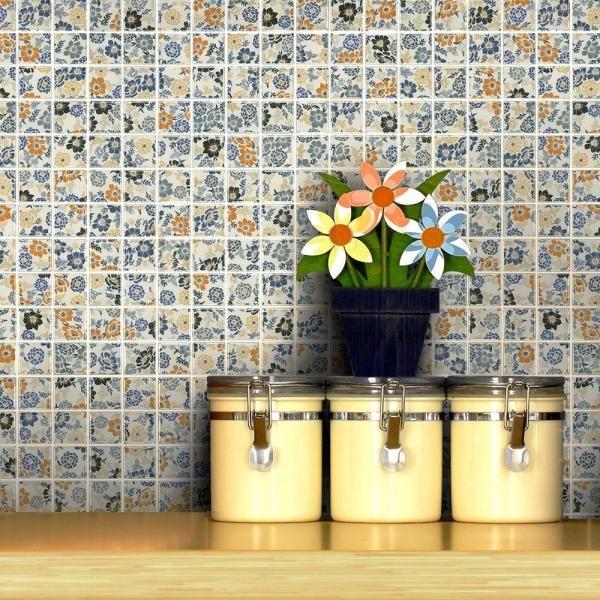 Flora Decor Tile Merola Tile Spring Flower  Backsplash  Bathroom  Pinterest