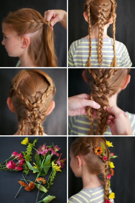 Stick Flowers In Your Braids For A Rapunzel Inspired Hairdo Disney Princess Hairstyles Hair Tutorial Princess Hairstyles