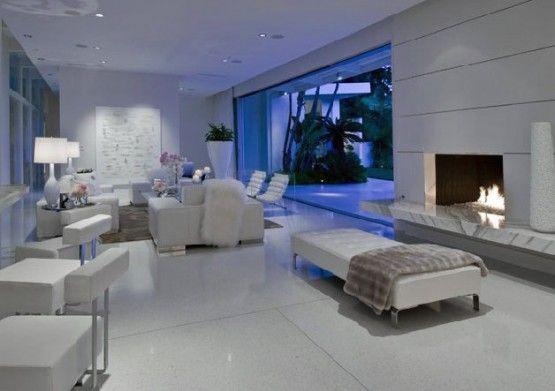 White + beige interior.