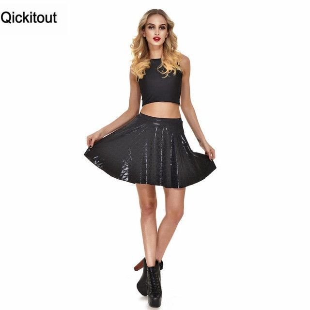 Qickitout Skirts 2016 Plus Size Sexy 12 Colors Women s New Summer Mermaid  Color Scales Skirts 3D Digital Printing Skirts ca45414ceb83