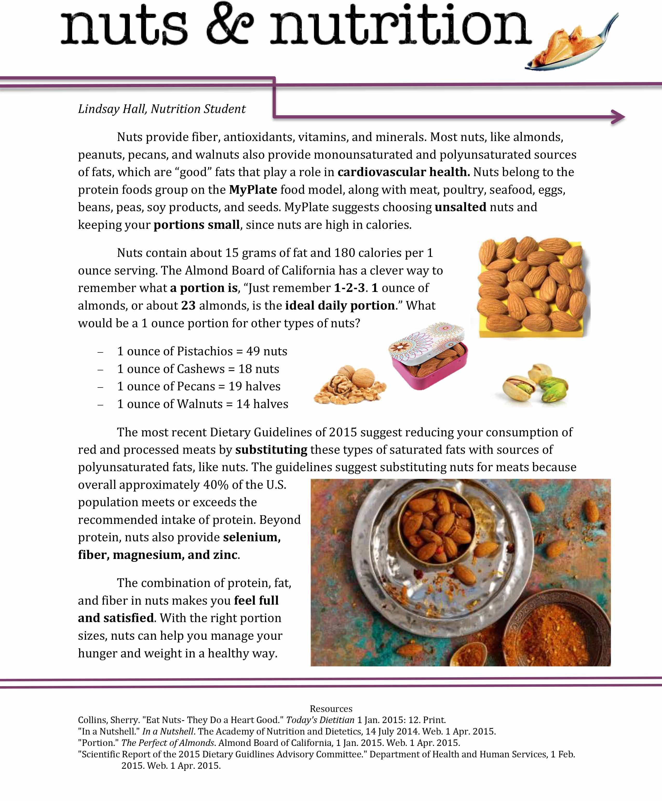 With the right portion sizes, nuts can help you manage your
