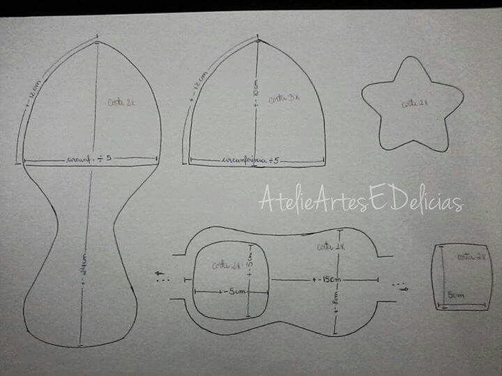 Chapéu aviador - molde1