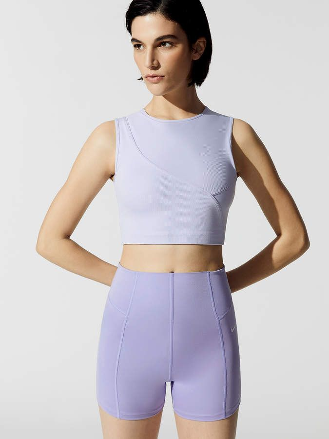 Nike Pro Hypercool Women S Ribbed Tank Tops In Oxygen Purple Clear Active Wear For Women Fashion Inspiration Design Activewear Fashion