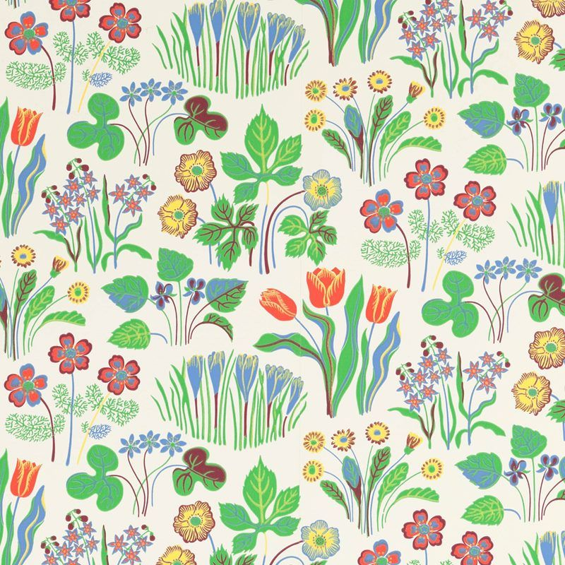 Wallpaper Sample Varklocka Paper Varklockor White Svenskt