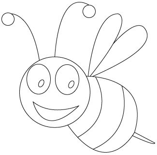 Bee Coloring Pages For Kids Preschool And Kindergarten Bee Coloring Pages Bee Pictures Bee Pictures Art