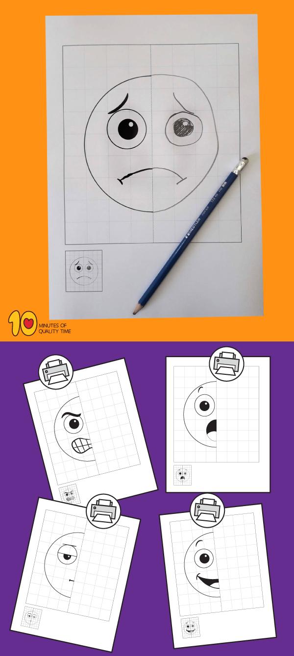 Emotions 5 Symmetry Worksheets Symmetry Worksheets Emotions Preschool Activities Emotions Preschool [ 1339 x 600 Pixel ]