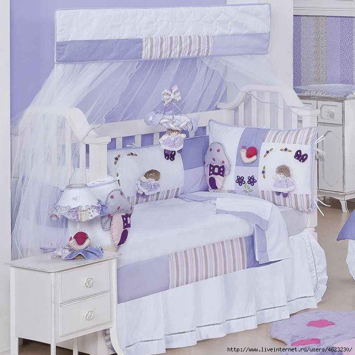 Как сшить мягкий бортик на детскую кроватку фото 804