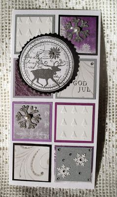 Reindeer stamp with silver embossing