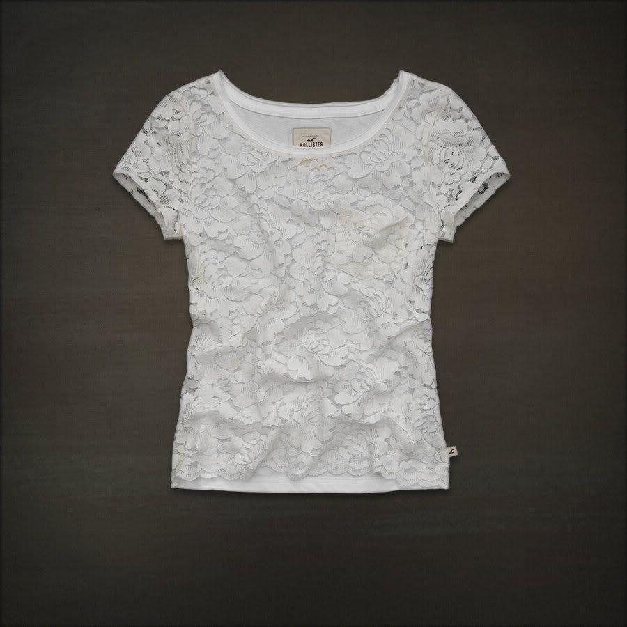 White lace apron ebay - Hollister Abercrombie Women Cream White Sheer Lace Top Shirt Medium Nwt