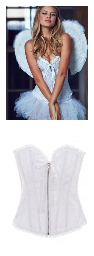 White corset for a DIY Halloween angel costume from Adore Me ...