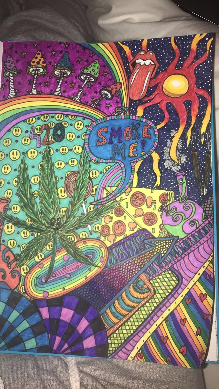 Rosyvdv Hippie Art Colorful Drawings Psychedelic Art