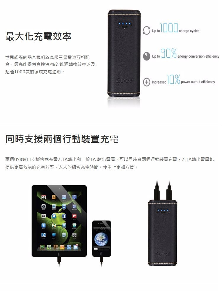 Luxa2 Pl3 10 400mah皮革行動電源 Pchome線上購物 24h 購物 Powerbank Power Electronic Products