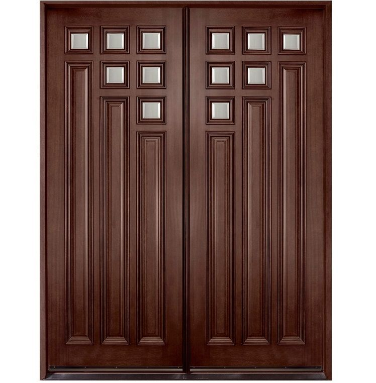 Main double door hpd109 main doors al habib panel for Door design and colour