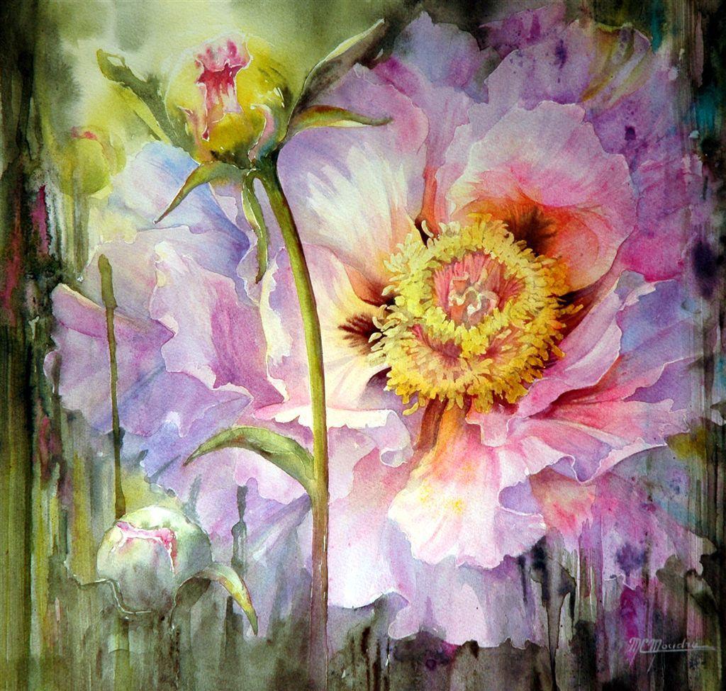 Moudru Marie Claire Aquarelliste Peintures Florales Peinture