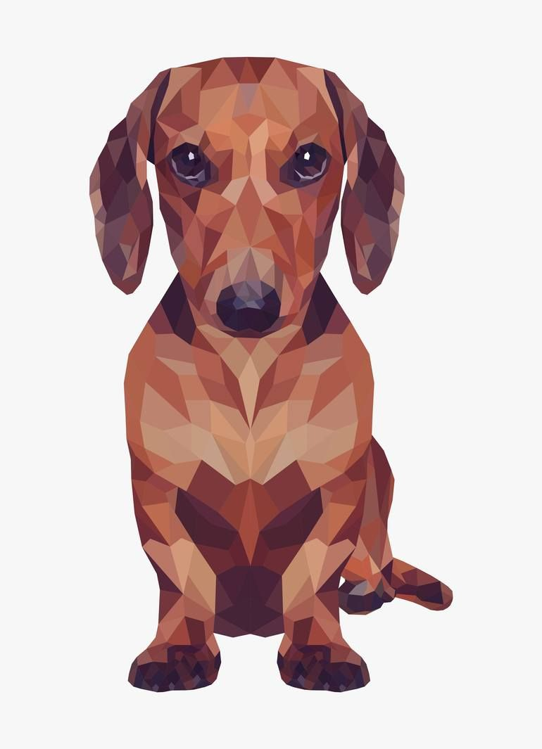 Saatchi Art Artist Vitalii Kotiash New Media Companion Limited Edition 1 Of 7 Art Geometric Dog Dachshund Drawing Dog Art