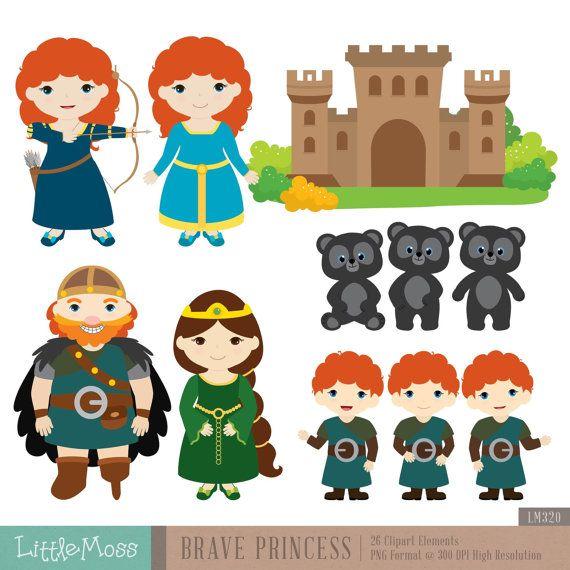 Brave Princess Digital Clipart Etsy Digital Clip Art Clip Art Brave Princess