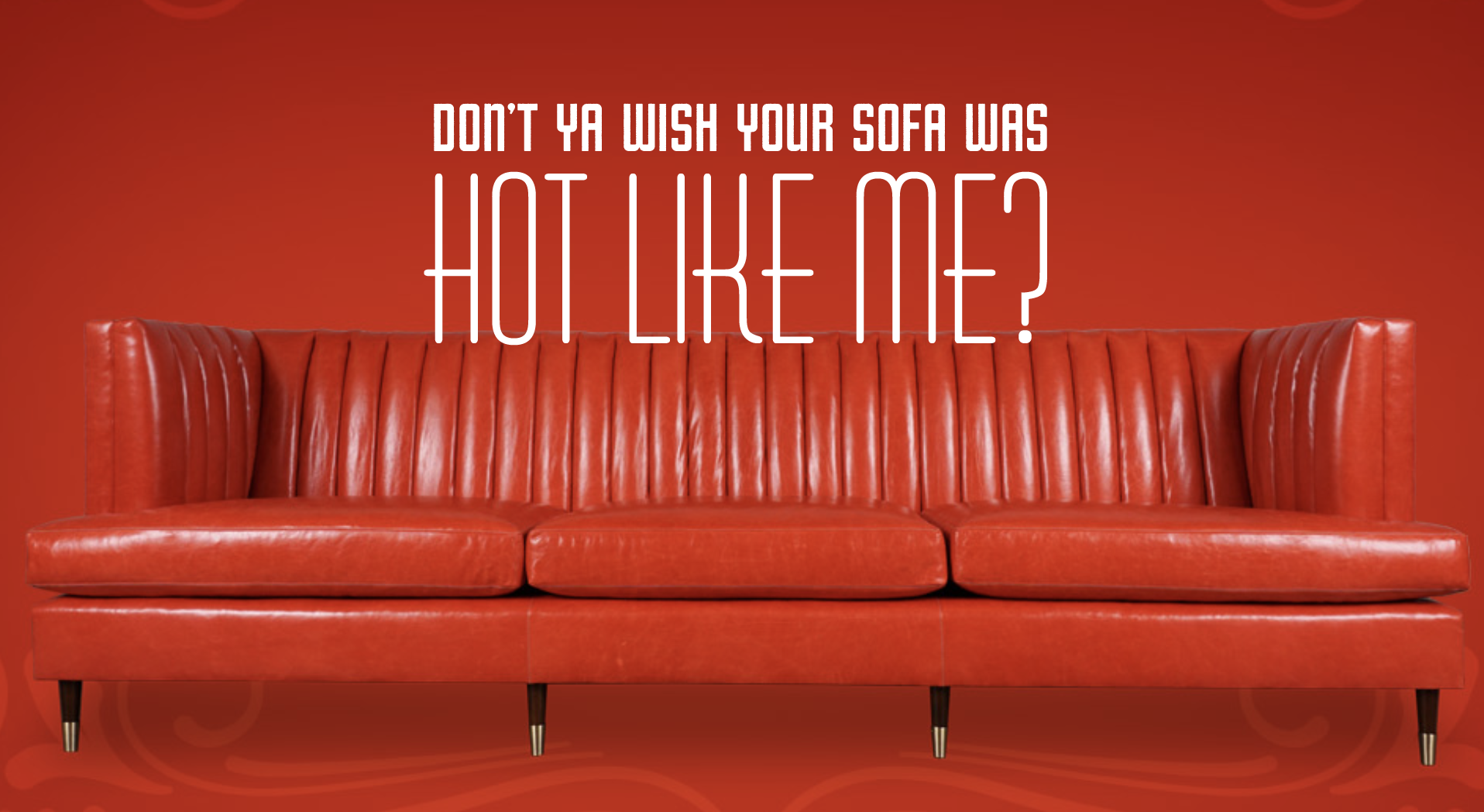 Red leather sofa, long red leather couch, tufted red leather ...