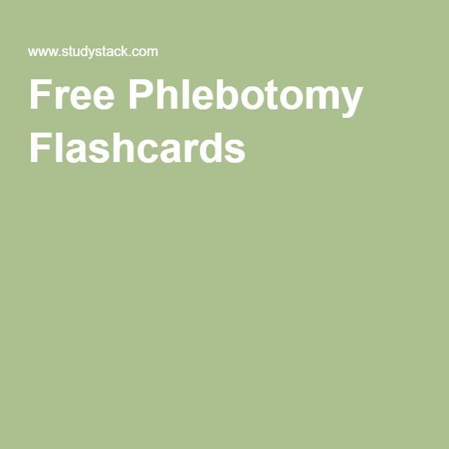 Free Phlebotomy Flashcards Career goals Pinterest Phlebotomy - iv infusion nurse sample resume
