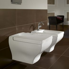 Uniquely Rectangular Wall Mounted Toilet Bidet From La Belle