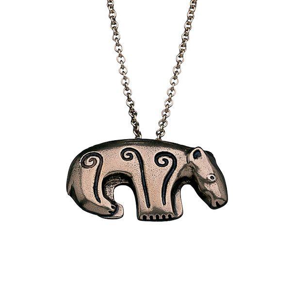 Kalevala Koru / Kalevala Jewelry / BEAR PENDANT  Designer: Kaisaleena Mäkelä, material: bronze or silver