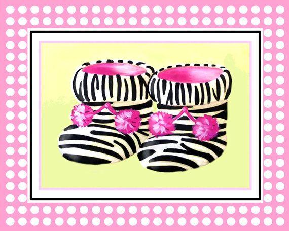 Zebra baby shoes, baby room decor, animal prints, nursery ...