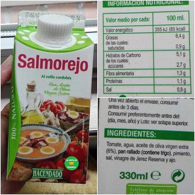 Salmorejo Hacendado Supermercado Mercadona