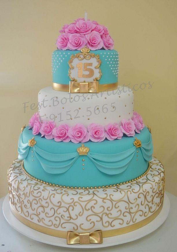 Bolo cenogrfico cake15thbirthday 15years princess CaKeS