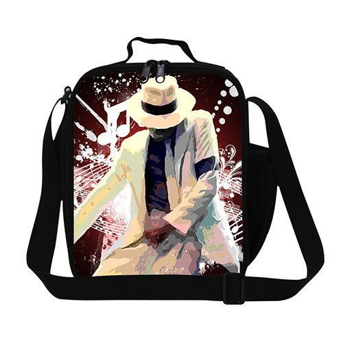 Designer Michael Jackson Insulated Lunch Bag For Young Men Childrens Box Fashion Style