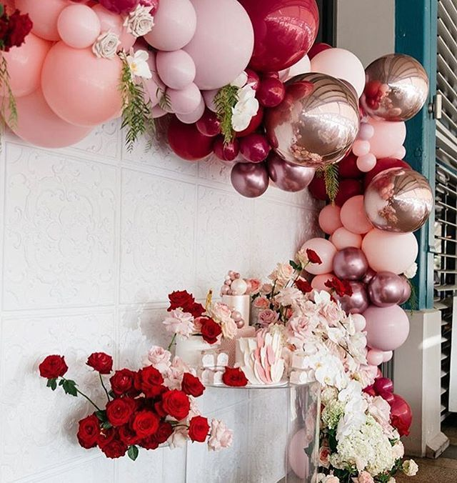 Hochzeit Ideen Wie Gross Die Metallischen Luftballons Fur Rosa Und Rot Sind Du Bekommst Sie Hochzeit Ideen Dekoration Balloons Last Minute Wedding Metallic Balloons