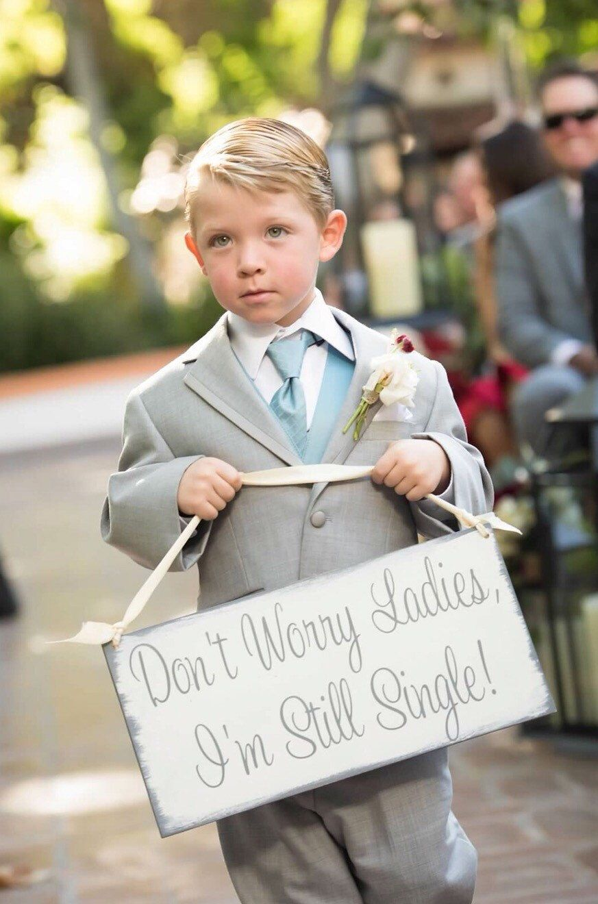 Don39t worry ladies i39m still single here comes the for Wedding ring bearer