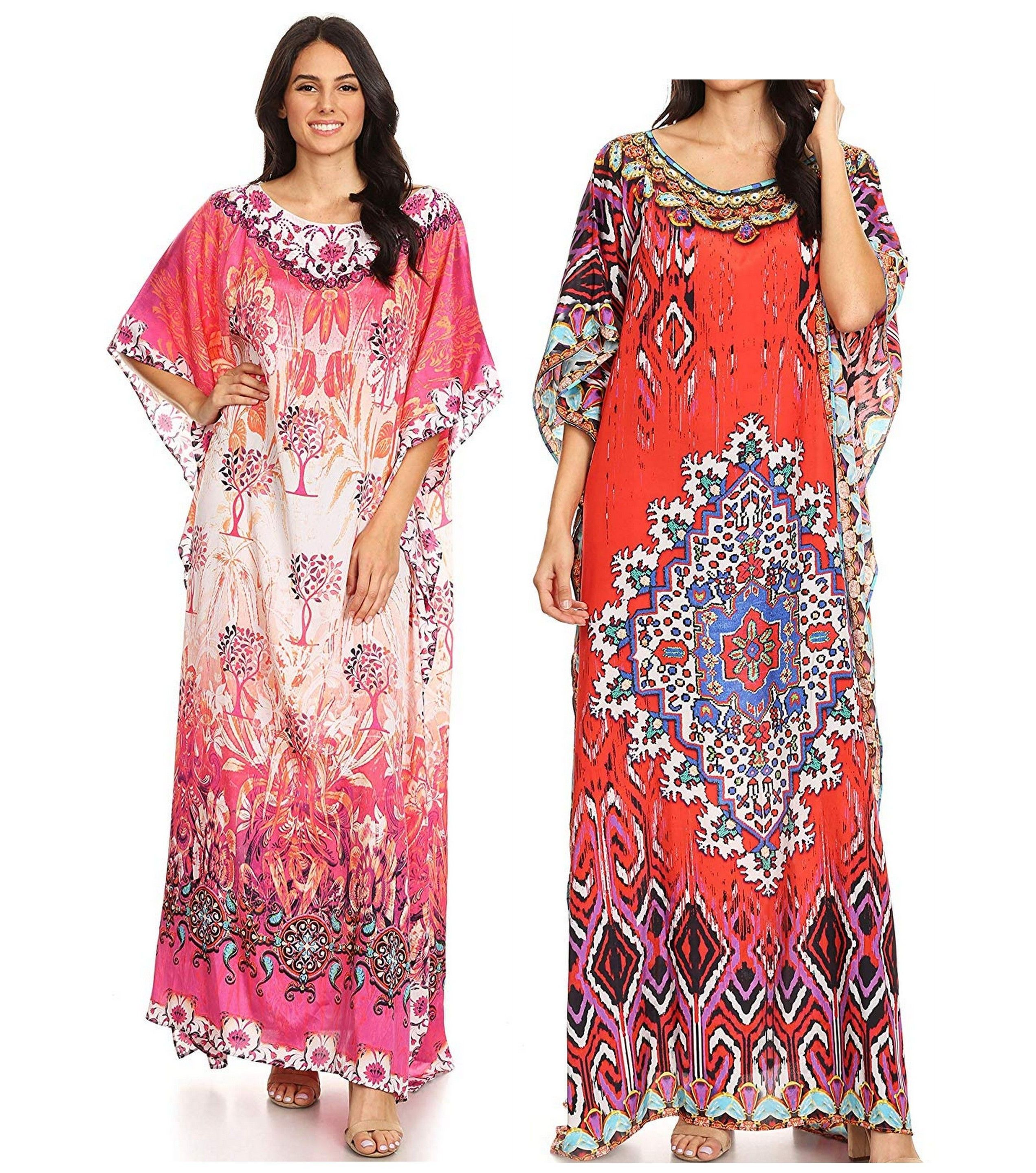 ae8010b8148 This lovely kaftan dress features a boat-neck and generous sleeve openings.  Also