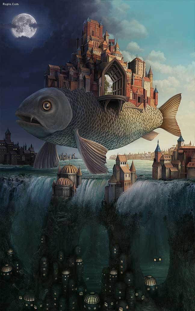 Flying fish by Darin Hilton.