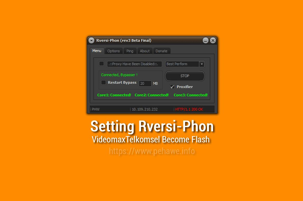 Setting Rversi Phon Untuk Videomax Telkomsel