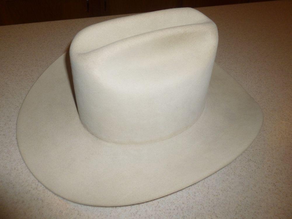 Stetson Cowboy Hat 4X Beaver XXXX Beige Cowboy Western sz 7 1 8  Stetson   CowboyHat 6bf144f66dba