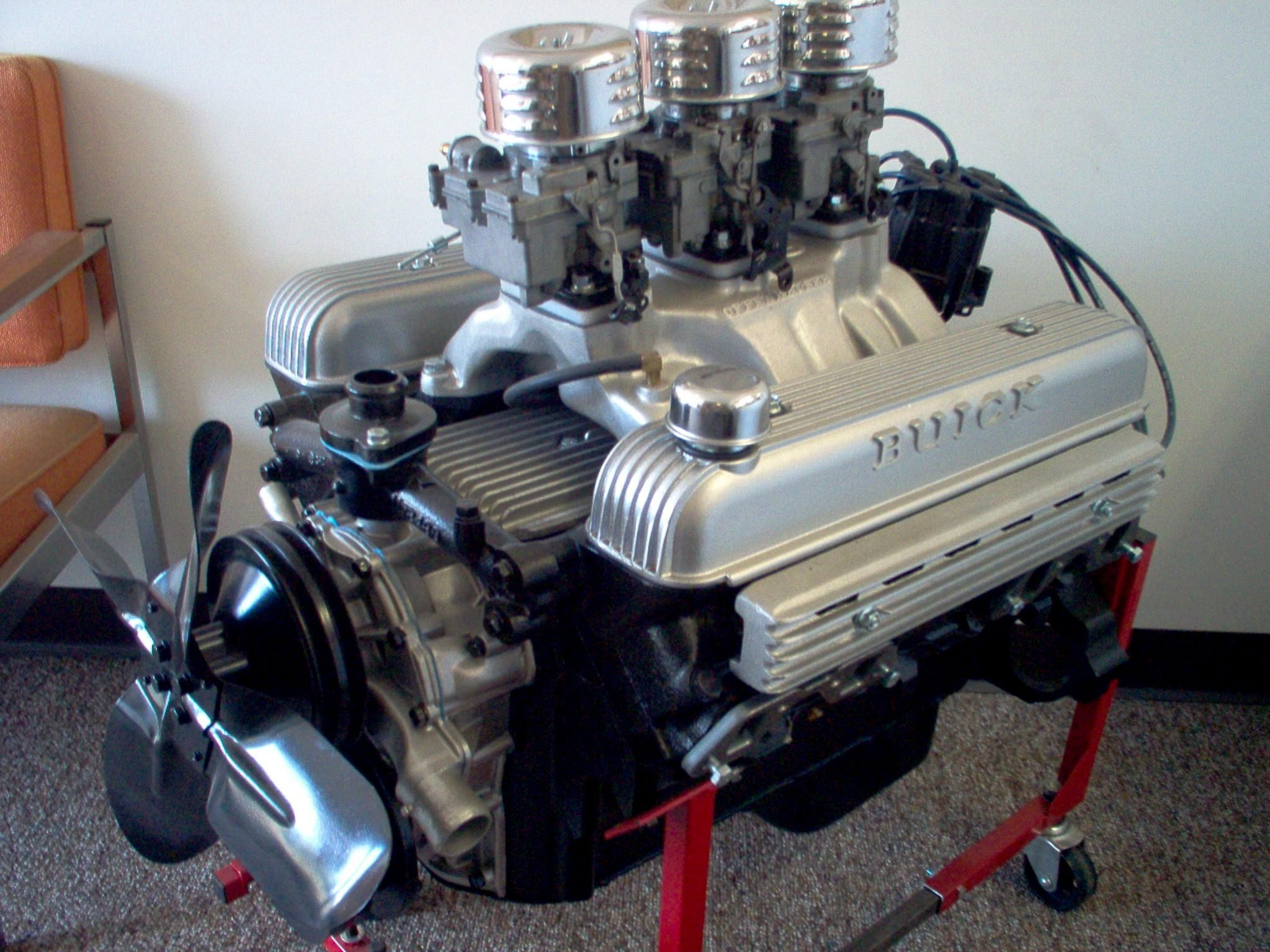 Triple 2 barrel nailhead gasoline engineperformance enginesbuick