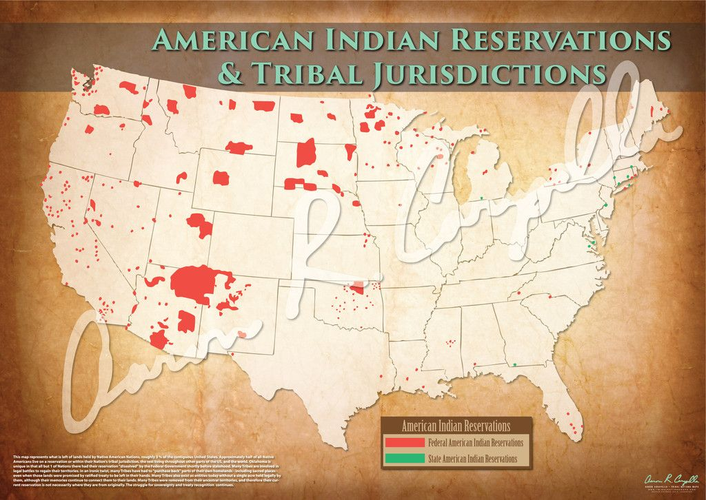 United States American Indian Reservations Map Indian - Indian nation map us