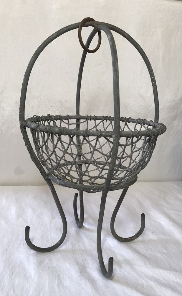 Old Coal Miners Mining Galvanized Metal Wire Basket Locker Clothes ...