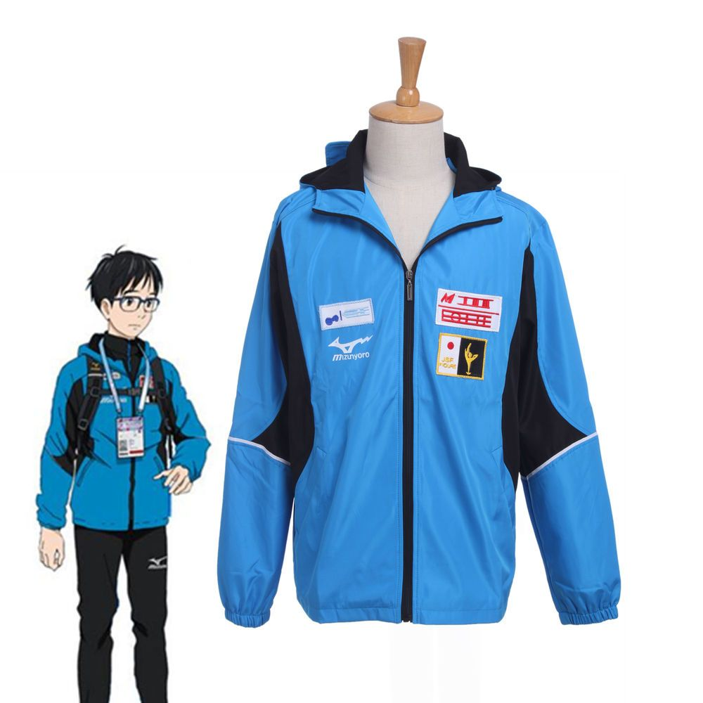 on Ice Katsuki Yuuri Sportswear Jacket Coat Suits Outfit Cosplay Costume Yuri!!