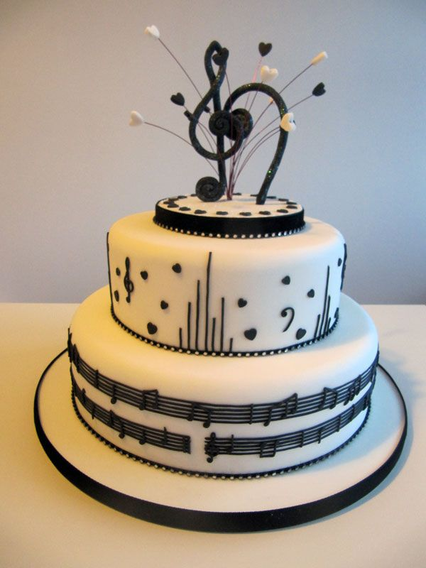 Magnificent Cakes For Music Lovers Google Search Music Themed Cakes Music Personalised Birthday Cards Bromeletsinfo