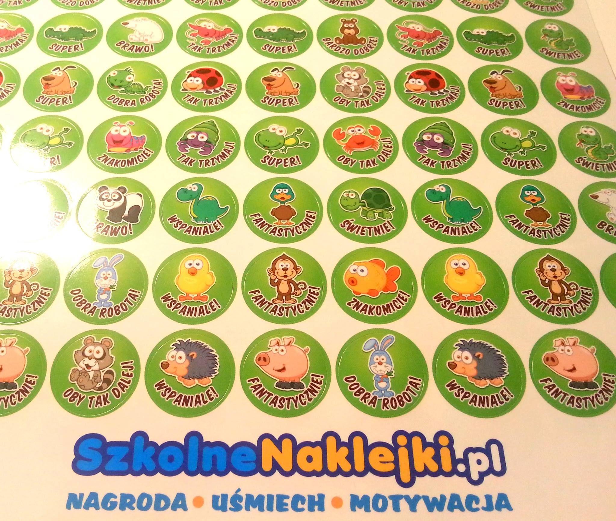 Male Naklejki Motywacyjne Mini Zwierzaczki Z Napisami W Jezyku